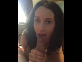 Hot girl using a banana as a dildo gif