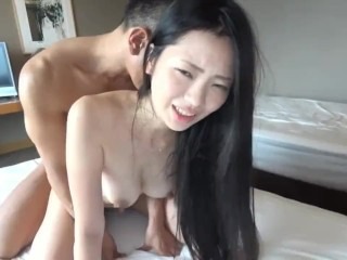 Hot young amateur enjoys a big cock