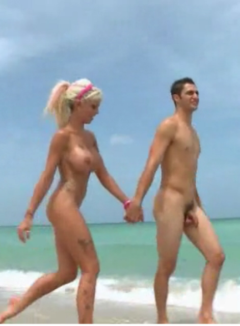 French topless beach teen